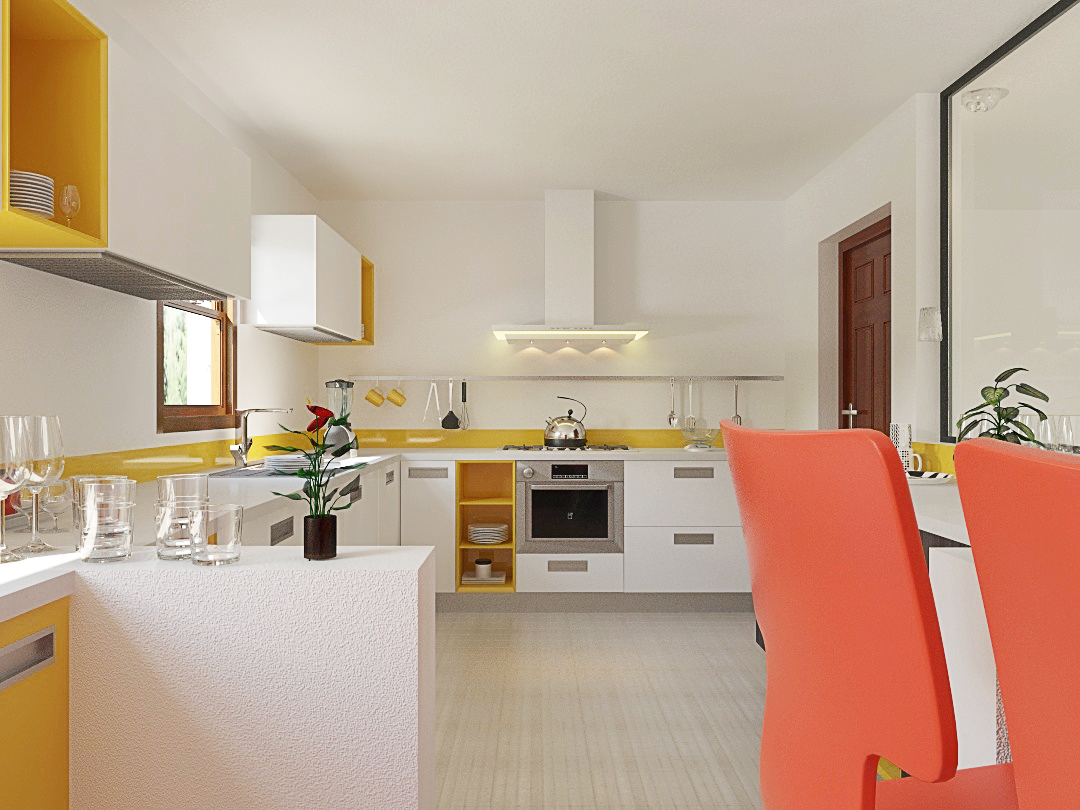 Kitchen Design In 3ds Max And V Ray 3D Model