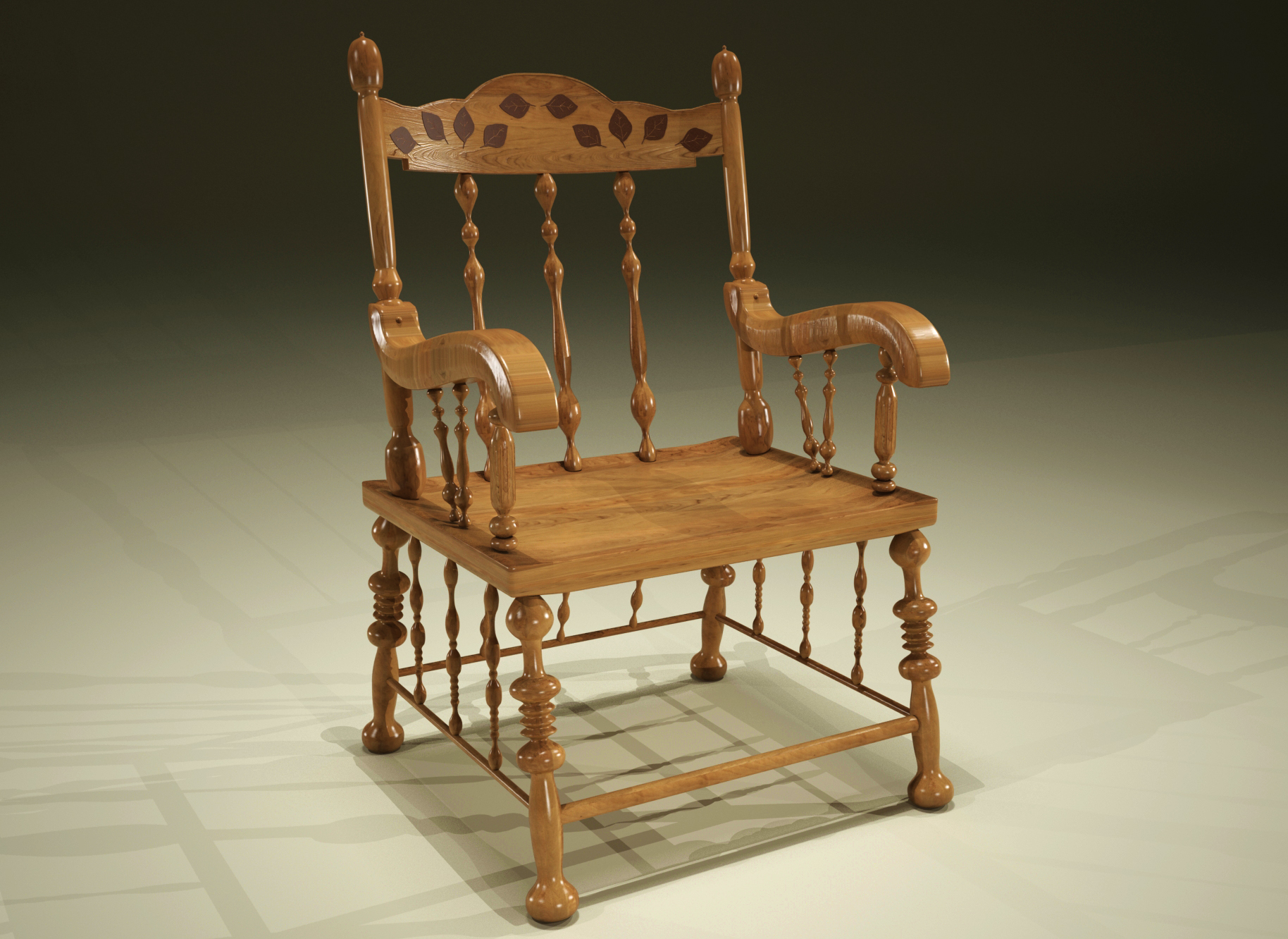 Object renders 3D model - Antique chair