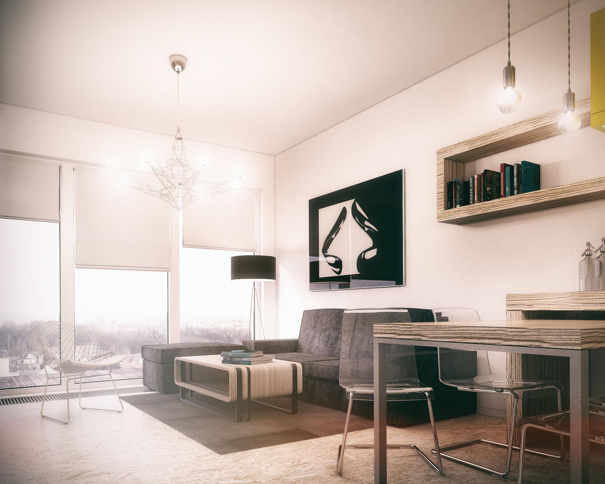 small modern apartment 1 freelancers 3d