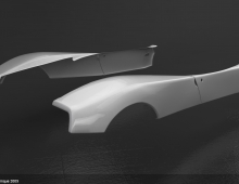 The making of Pagani Zonda 2009 3D model - Render 1