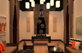 INDOCHINESE LOUNGE 3D model