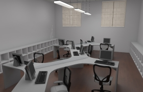 CONADER offices 3D model - administrative office