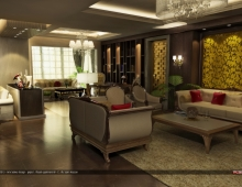 Maadi Apartment  3D model - Reception area