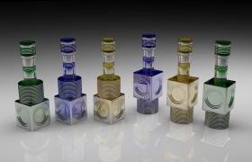 Tequila Bottle Design 3D model
