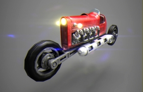 Cars and transport 3D model - Old school sport car