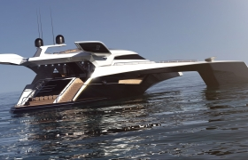 MOTOR YACHT - DESIGN & VISUALIZATION 3D model