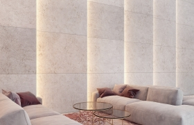 Two faces of travertine - day and night 3D model - Modern finishing materials