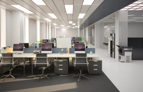 Office interior reshape 3D model