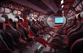 spaceship interior 3D model - maya
