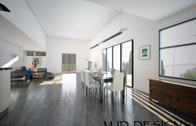 Citi Homes St. Paul Street 3D model - View from kitchen to living room