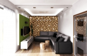 Interior 3D model - living room