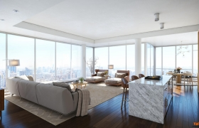 MANHATTAN PENTHOUSE Interior Visualization 3D model