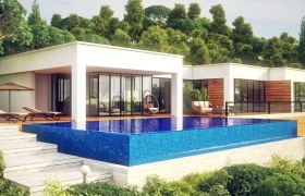 Architectural Rendering / Private Residence Aurora 3D model - Architectural Rendering / Private Residence Aurora day view