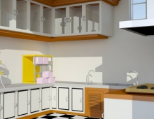 kitchen ,bed room. i phone and mercury 3D model