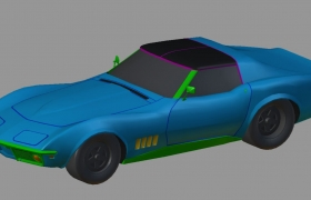 game art cars and motorcycles 3D model