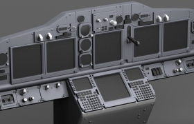 Boeing 737 NG Cockpit 3D model