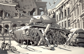 War of the Colosseum Work in progress Big Project. 3D model - Vray Renderer