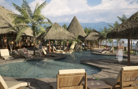 3D Visualization for Beach resort 3D model - 3D Visual a resort
