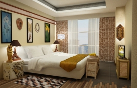 3D Design for Product Visualization 3D model - Product Visualization in a Bedroom