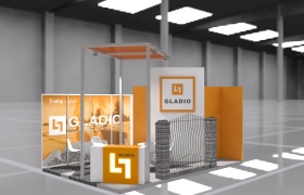 Booth design - Interbud  3D model