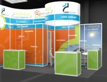 Booth - Airport in Lodz 3D model