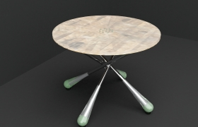 """Goli"" Table to Gather 3D model - The name for this table was ""goli"".The design for this table was inspire from the traditional games in Malaysia that is marble throwing games."