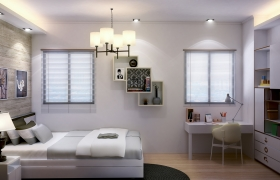 bedroom design album 3D model - small condo bedroom design