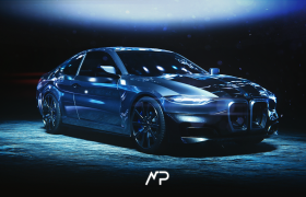 Bmw The Dark Knight ConceptCar 3D model