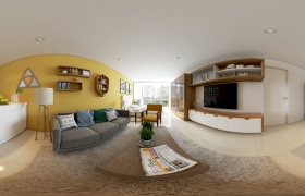360 Degrees Small Apartment 3D model