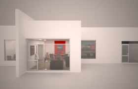 Car Rental Office 3D model