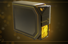 Random renders  3D model - Deus Ex style PC Case
