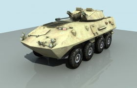 Light Armoured Vehicle 3D model