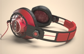 Headphones Design for 808 Audio, 2014 3D model