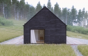 Black Summer House 3D model