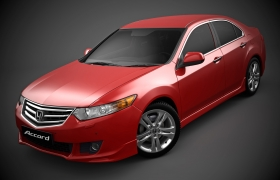 Accord 2008 Launch 3D model - Accord 2008 launch. Red