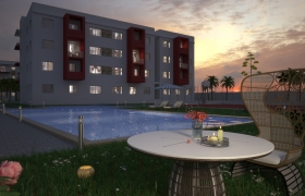 Exterior  3D model - image de synthése night final