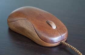 Clickwood wooden mouse 3D model
