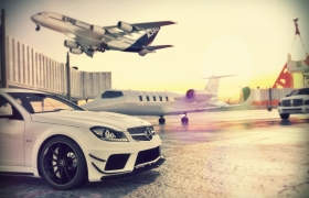 ...a private jet is waiting 3D model
