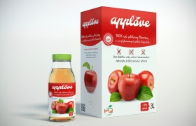 Apple juice - package design and 3D visualization 3D model