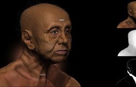 Sculpt of my Grandfather. 3D model - Sculpt of my grandfather.
