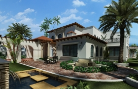 ML Realty 3D model - Spanish style house