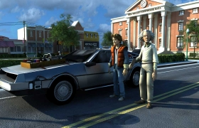 back to future 3D model