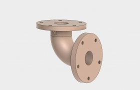 Elbow Coupling 3D model