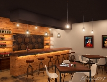 Bar Interior Rendering 3D model