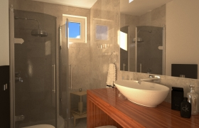Interior & exterior renders 3D model - bathroom