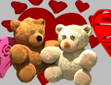 Valentines Day Bears 3D model