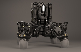 Robotic walker 3D model - Front view
