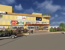 City Mall 3D model - 3d Rendering for a Proposed Medium Scale City Mall ( Concept and Design Stage)