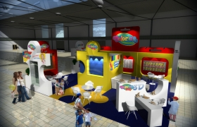 booth design COLORINO 3D model