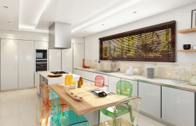 Visualization of a kitchen.  3D model - Design, Modeling, visualizations of a kitchen.